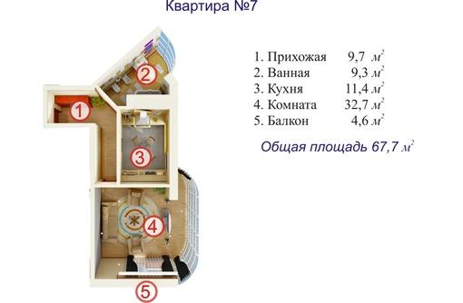 Однокомнатная квартира в г. Ялта - Квартиры в Севастополе