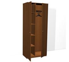 Шкаф для одежды ДСП двухстворчатый комбинированный от 2850, мебель ДСП для гостиниц и пансионата опт - Мебель для гостиной в Крыму