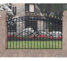 Изготавливаем забор с коваными элементами, ворота распашные, откатные - Заборы, ворота в Ялте
