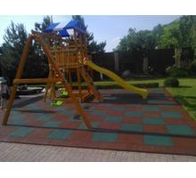 Резиновая плитка для детской площадки 500х500, 40мм - Кирпичи, камни, блоки в Ялте