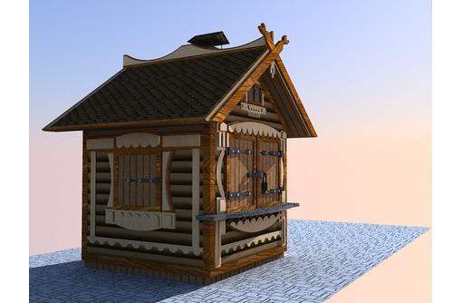 Строительство киоска из блок хауса - Строительные работы в Севастополе