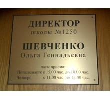 Нужны таблички, указатели из пластика и композита в Севастополе? Они у нас! - Реклама, дизайн, web, seo в Севастополе