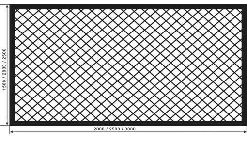 Изготовление заборных секций из сетки рабицы под ключ - Металлы, металлопрокат в Севастополе