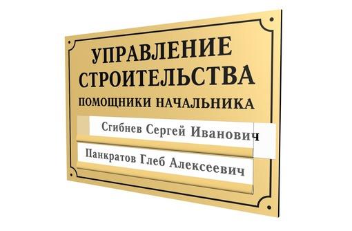 Изготовление табличек любого назначения, фото — «Реклама Севастополя»
