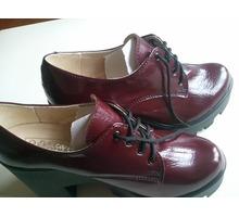 Новые туфли-ботинки демисезонные на черной тракторной подошве 38 р-р - Женская обувь в Севастополе
