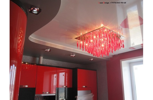 Многоуровневые натяжные потолки  LuxeDesign - Натяжные потолки в Саках
