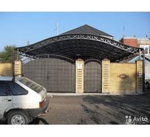 Навес из сотового поликарбоната - Металлические конструкции в Севастополе