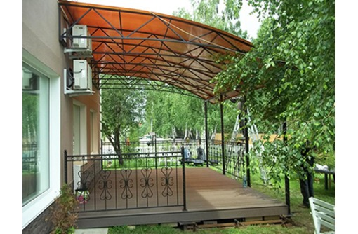 Навесы  и козырьки из металла и  поликарбоната - Металлические конструкции в Севастополе