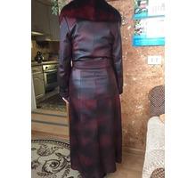 Кожаный женский плащ с воротником - Женская одежда в Бахчисарае