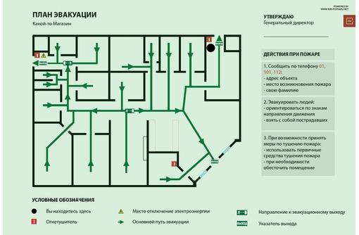 Планы эвакуации изготовление и печать, фото — «Реклама Севастополя»