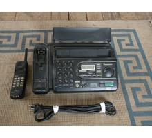 Телефон-Факс с радиотрубкой.Panasonic KX-FTC47BX,в хорошем состоянии. - Стационарные телефоны в Саках