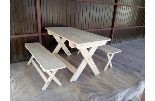 Стол и лавки для кафе, складные, фото — «Реклама Севастополя»