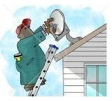 Установка и ремонт спутникового и цифрового тв антенн тарелок т2 Алушта - Спутниковое телевидение в Симферополе