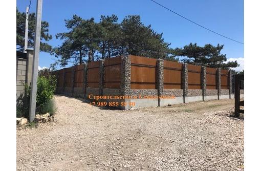 Строительство заборов из габионов | конструкции из габионов | строительство из габионов, фото — «Реклама Севастополя»