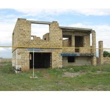 Участок 8 сот. в с. Каменоломни с не достроенным домом , ул. Гагарина 16 А , 7 км. от Евпатории - Участки в Евпатории
