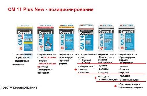 Клей плиточный Ceresit CM-11.Также клея других производителей.Всегда наличие. - Отделочные материалы в Севастополе