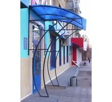 Навесы и козырьки из металла и поликарбоната - Металлические конструкции в Крыму