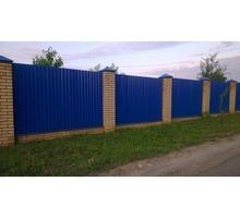 Монтаж и установка забора из металла, профнастила, дерева, кирпича, бетона - Заборы, ворота в Евпатории