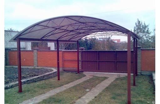 Навесы из поликарбоната и профлиста - Металлические конструкции в Севастополе