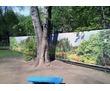 Временное ограждение для стройки - баннерная сетка, фото — «Реклама Евпатории»