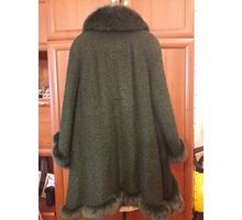 Пальто женское с воротником из песца - Женская одежда в Крыму