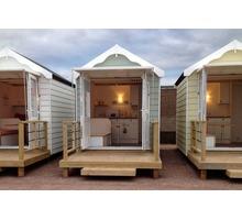 Изготавливаем пляжные домики из дерева - Строительные работы в Севастополе
