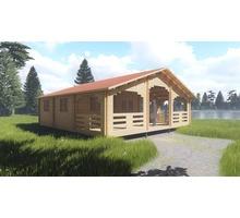 Гостевые дома с верандой из мини-бруса от компании Дом за миллион - Строительные работы в Черноморском