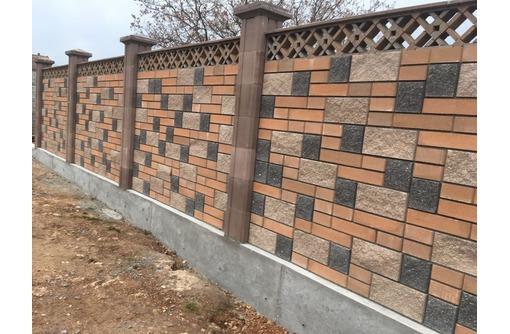 Заборы из французского камня в Севастополе – безупречный результат от настоящих профессионалов - Заборы, ворота в Севастополе