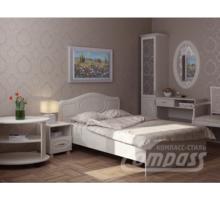 Спальня мебель. Спальный гарнитур 6.  Кровать, Зеркало, Пенал со стеклом, Тумба прикроватная, Стол - Мебель для спальни в Севастополе