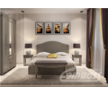 Спальня купить в Севастополе 4. Банкетка, Тумба прикроватная, Шкаф трёхстворчатый с зеркало, Кровать - Мебель для спальни в Севастополе