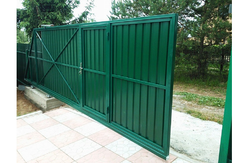 Ворота откатные распашные,заборы,навесы металлоконструкции от производителя. - Заборы, ворота в Севастополе