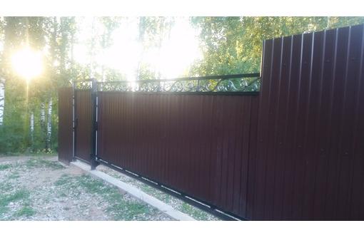 Ворота откатные распашные,металлоконструкции от производителя.Изготовление - Заборы, ворота в Севастополе