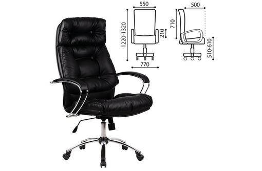 Кресло Метта ЛК-14 рециклированная кожа, фото — «Реклама Севастополя»