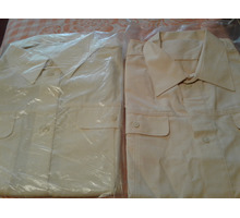 Кремовые новые военные рубашки - Мужская одежда в Севастополе