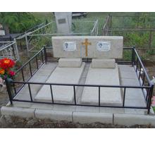 Двойной памятник бетонно мозаичный - Ритуальные услуги в Феодосии