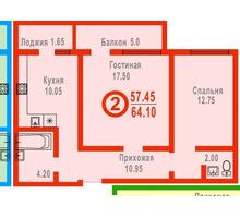 Продам большую 2-комнатную квартиру 64 квм в новом доме г. Евпатория ул. 9 мая - Квартиры в Евпатории