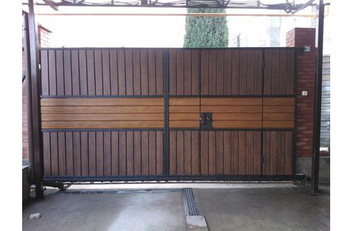 Откатные ворота с автоматикой и без автоматики, фото — «Реклама Бахчисарая»
