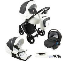 коляска ADAMEX LUCIANO DELUXE 3 В 1 Q253 ГРАФИТ/БЕЛАЯ КОЖА+подарок пуховик для беременной - Коляски, автокресла в Севастополе