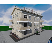 Проект трехэтажного дома на 9 квартир - Услуги по недвижимости в Севастополе