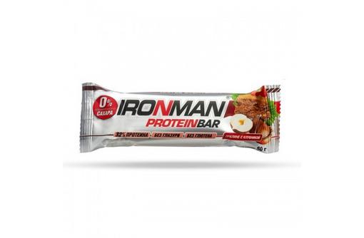 IRONMAN™ протеиновый батончик без глазури (пралине с клубникой) - 50 г, фото — «Реклама Севастополя»