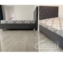 Кровать двуспальная с мягким изголовьем на заказ - Мебель для спальни в Севастополе