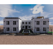 Проект двухэтажной гостиницы П-образной формы (проект гостиницы с внутренним двориком) - Услуги по недвижимости в Севастополе