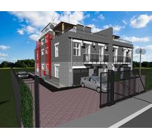 Проект трехэтажного квадрохауса на 4 семьи - Услуги по недвижимости в Севастополе