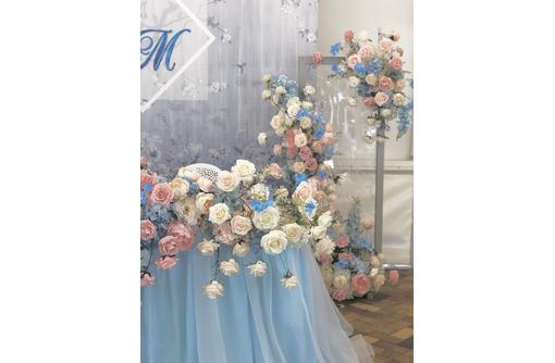 Оформление свадьбы, выездная регистрация, фотозона, декор стульев, композиции на столы гостей - Свадьбы, торжества в Севастополе