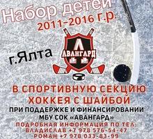 Спортивная секция хоккея с шайбой ХК «Авангард» г.Ялта - Детские спортивные клубы в Крыму