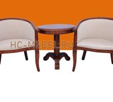 Чайная группа А-10. 2 кресла с подлокотниками и чайный столик - Мебель для гостиной в Севастополе