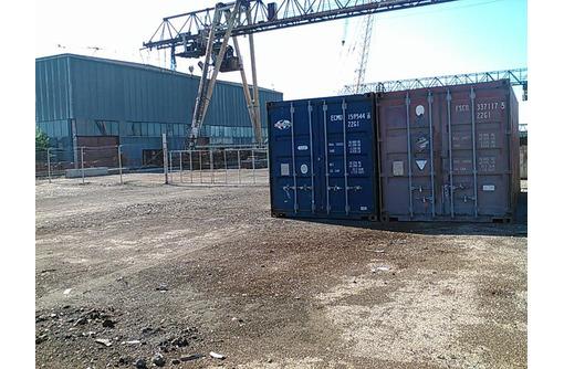 Аренда  открытых площадок 2000 кв м и складов 500 кв м с жд веткой и краном. - Сдам в Севастополе