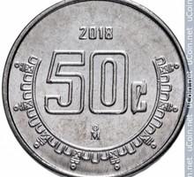 50 сентаво ( Мексика ) 2016 -2017-2018 гг. выпуска - Антиквариат, коллекции в Бахчисарае