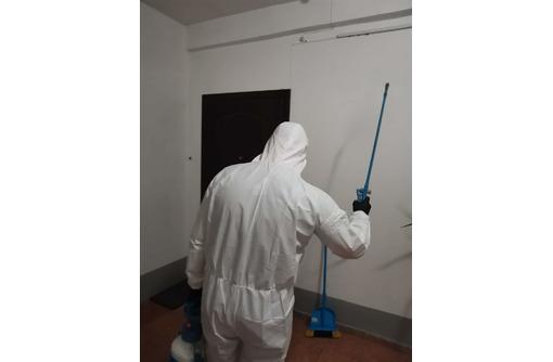 Дезинфекция подъездов в многоквартирном и частных домов для профилактики коронавируса, ОРВИ и т.п., фото — «Реклама Фороса»