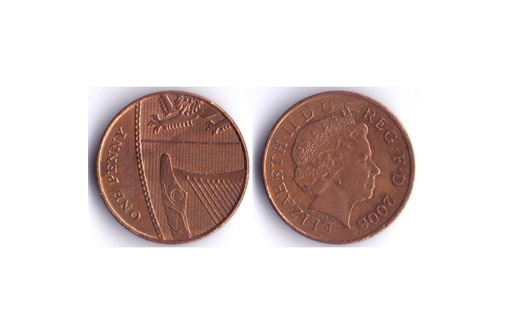 1 пенни Великобритания, фото — «Реклама Бахчисарая»